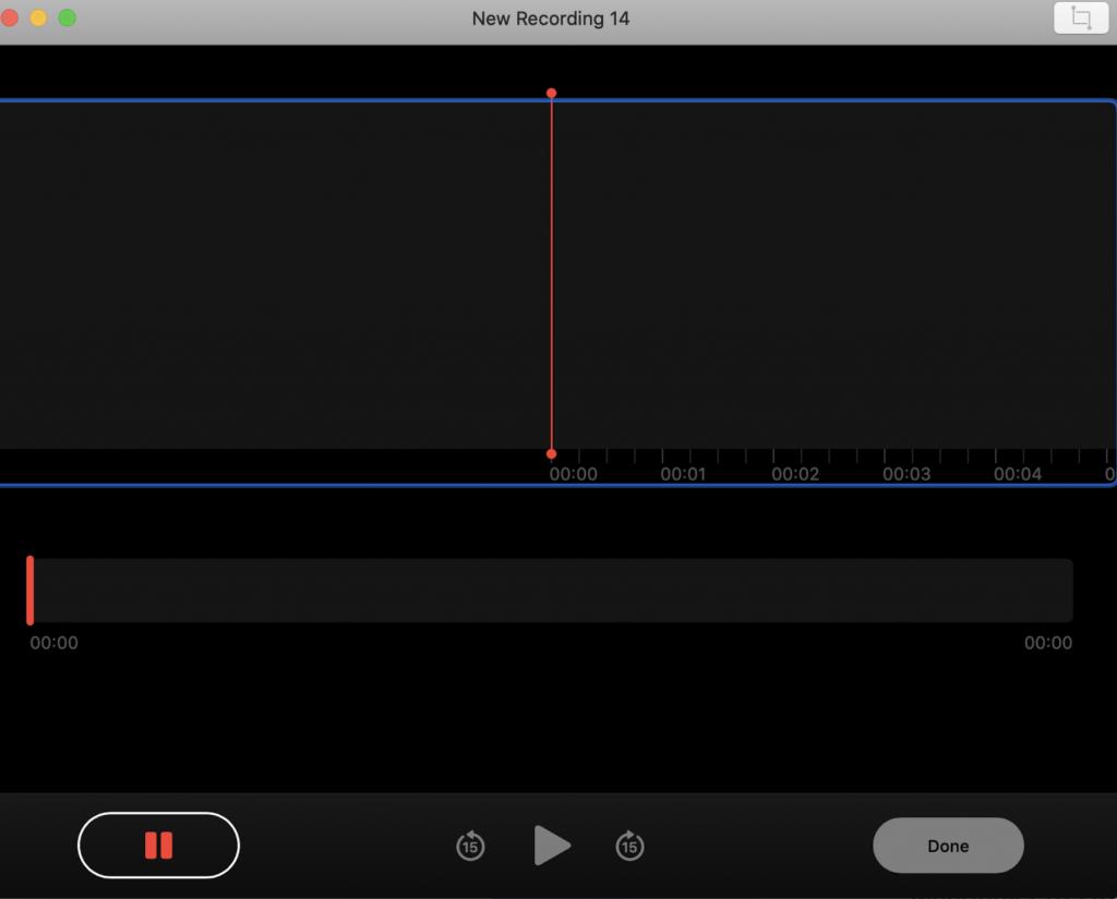 Voice Memos on Mac