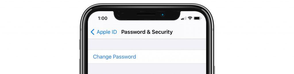 change password on iPhone