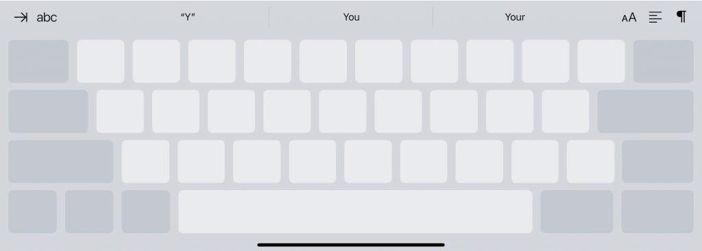 keyboard as a trackpad
