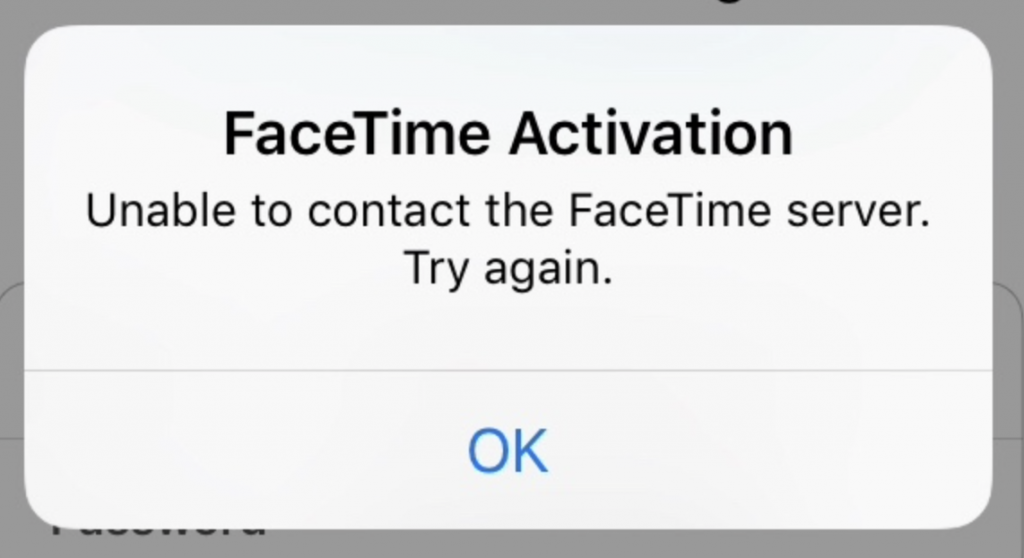 Unable to contact the server.
