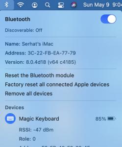 Reset the Bluetooth module