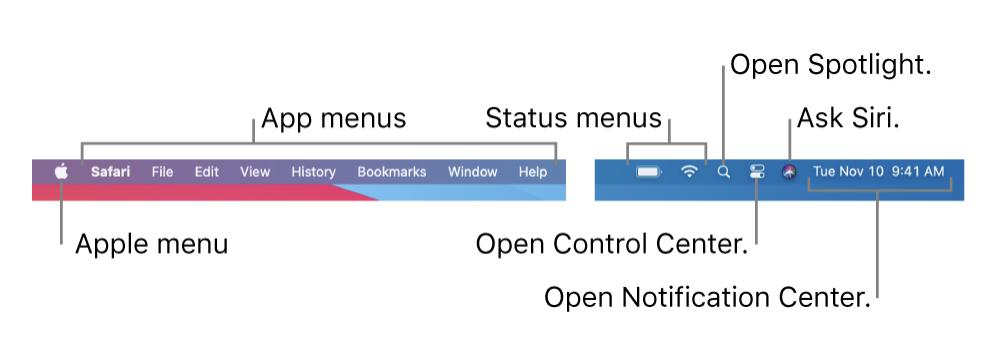 Mac menu bar