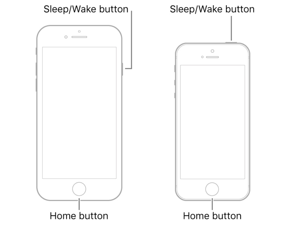 iPhone 6 buttons