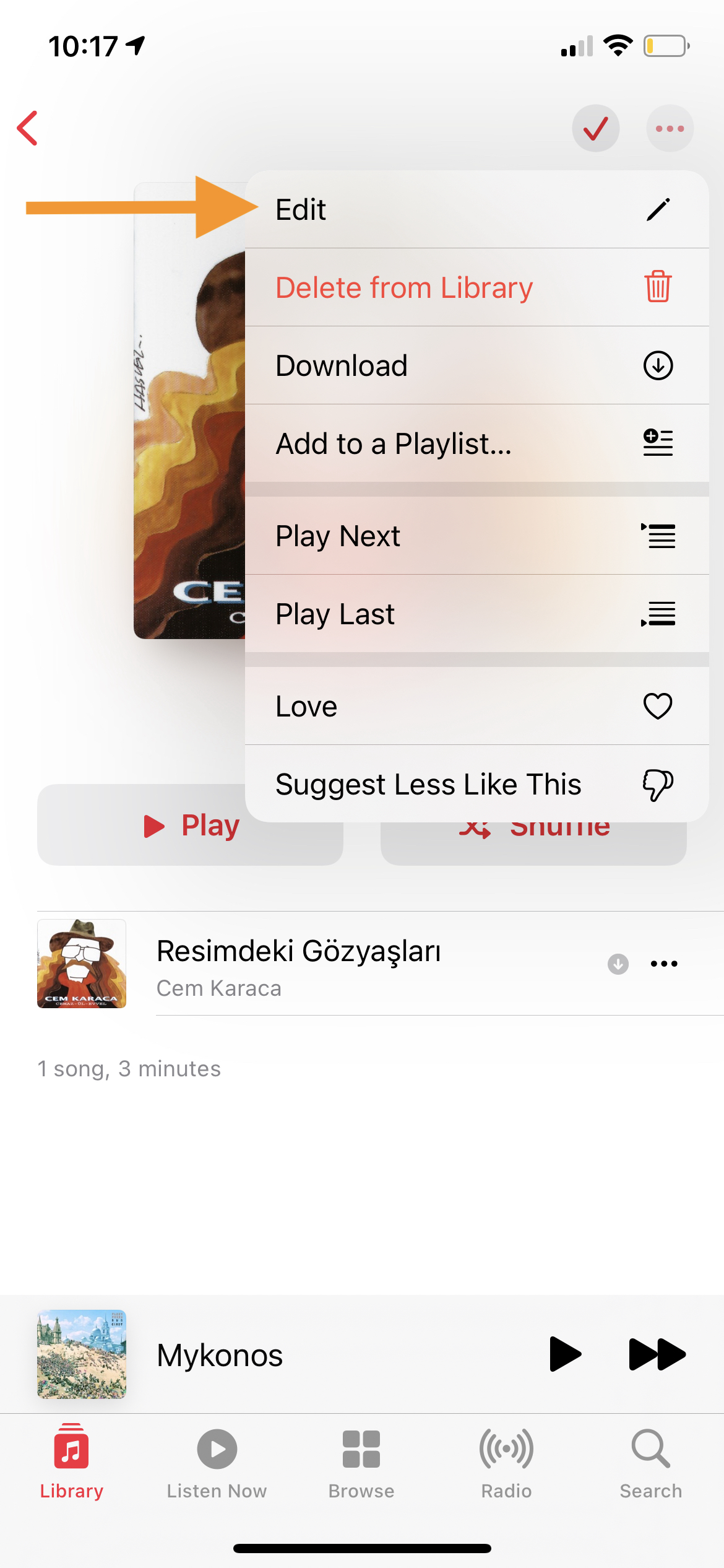 Playlist Edit