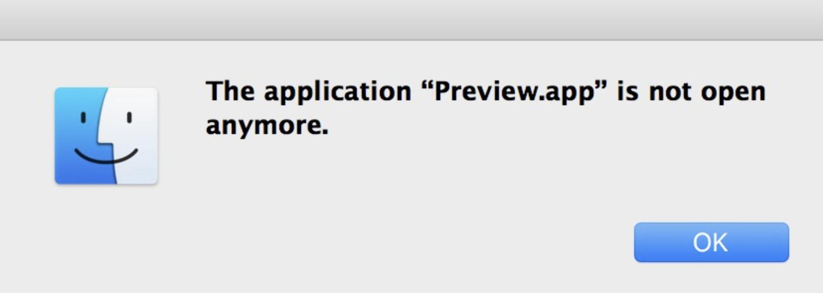 Preview App error message