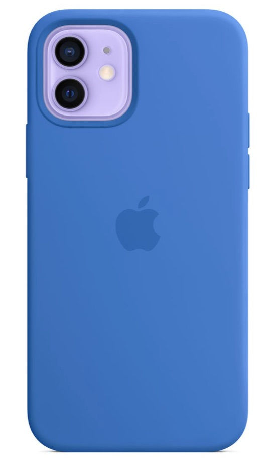 iPhone 12 Pro with Apple silicone case